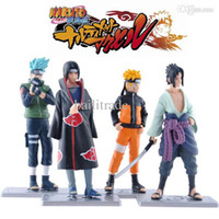 Wholesale Action Figure Itachi - Wholesale-4pcs Set Japanese Naruto Anime Action Figures Sasuke Itachi Kakashi PVC Toy Dolls 12cm Cartoon Model for kids gift