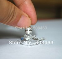 Wholesale Dolphin Vial - Free ship 300pcs lot lovely dolphin Vial Pendant (metal cap with rubber plug mini glass charm  rice  bottle miniature vials)