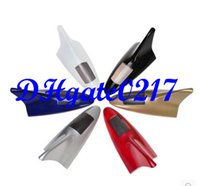 Wholesale Shark Fins Light - 6 LED A variety of color car solar flashing lights Shark fin static electricity Antenna anti collision warning light free shipping