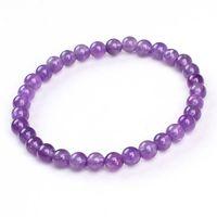 Wholesale Gemstone Charm Beads - Wholesale 10Pcs Charms Natural Different Gemstone Amethyst Quartz Agate Round Shape Beads Stone Beaded Bracelets Jewelry