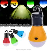 Wholesale Heat Measures - Outdoor LED Camping Lamp Tent Night Light Bulb ABS Energy-saving Low Heat Camping Lantern Light 3 x AAA Battery Tent Lamp B