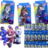 Wholesale Purple Unicorns - Finger toy Gigi the Unicorn Fingerling Electronic Smart Touch Fingers Interactive Baby Unicorn Finger Toy Gag Toys Christmas party