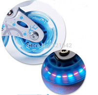 Wholesale Seba Roller - Wholesale-Color Grey,80MM 85A of HV Seba PU Skates flash Wheel,skate board  skate wheels flashing roller,ILQ9-9 Bearings,Free shipping