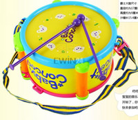 Wholesale Wholesale Drum Machine - Hot Selling 4 In 1 Kids Child Baby Gift Play Learning Educational Toys Music Toy Drum Set 48Sets