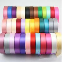 Wholesale Wholesale Ribbons Spools - (5 Rolls Lot)Brand New Gift Ribbon Christmas New Year Wedding Colorful Grosgrain Ribbon Satin Gift Packaging Ribbon Spool
