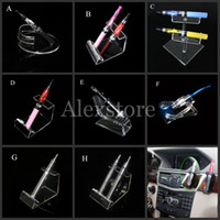 Wholesale E Cigarette Battery Pipe - Acrylic e cig display clear stand shelf holder vape car rack for vapor ego battery e pipe ecig vaporizer pen mech mod mechanical e-cigarette