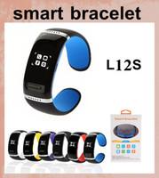 Wholesale l12s smart watch resale online - L12S Smart Miband Smart Xiaomi Mi Band Miband Bracelet Smart Fitness Wearable Tracker Waterproof Wristband dhl free ship smart watch OTH064