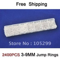 Wholesale jump boxes - Free Shipping wholesale Lot 2400pcs 3-4-5-6-7-8-9mm 925 Sterling Silver Components 925 silver jewelry findings jump rings a box