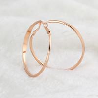 Wholesale Earrings Hoop 18kgp - Wholesale-ER0320 18KGP Gold Plated Hoop Earrings Fashion Jewelry Nickel Free Rhinestone Made with Austrian SW Element Crystal kuniu