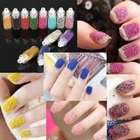 Wholesale Micro Glitter Wholesale - 12bottles Loose Glitter Caviar Beads Microbeads Micro Beads Nails Art Manicures Pedicure Nail Art Décor free shipping 60021