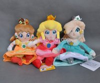 plüsch pfirsich puppe großhandel-Wholesale-Free Verschiffen 3PCS New Super Mario Plüsch Puppe Prinzessin PEACH DAISY Rosalina 8