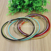 10Pcs Jewelry Making Findings Rubber Necklace Pendant Cords Com Lobster Clasp colar bloqueio de colar de madeira