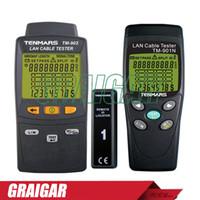 Wholesale Lan Meter - Tenmars TM-901N_TM-902 LAN LAN Cable Tester Handheld Low-Voltage Display Network Tools Cable Tester Meter TM901N,tm902N
