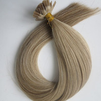 Wholesale remy hair extensions 18 613 for sale - Group buy 150g Set Strands Pre bonded Flat Tip Hair Extensions inch M8 color Brazilian Indian Remy Keratin Human Hair