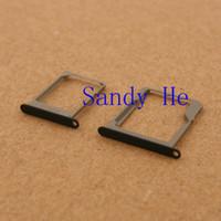 Wholesale Sim Sd Holder - Wholesale-10sets lot New Sim Card Tray Micro + SD Tray Nano Slot Holder PartsFor Samsung Galaxy A3 A5 A7 Black And White