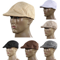 Wholesale mens newsboy caps - Wholesale-Autumn And Winter Fashion Mens Vintage Flat Cap Peaked Racing Hat Beret Country Golf Newsboy H1E1
