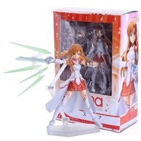 Wholesale Sword Art Online Action Figures - Wholesale-Sword Art Online S.A.O Asuna Figma Action Figure Toys 15cm PVC Action Figure Collection Model Toys Doll 3 Faces Free Shipping