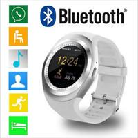 андроид для мобильного телефона оптовых-Y1 смарт-часы для iPhone X 8 7 плюс Android сотовый телефон Bluetooth Smartwatch для Galaxy S8 Примечание 8 ПК U8 DZ09 GT08 с розничной упаковке