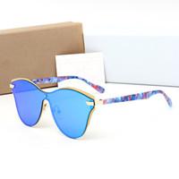 Wholesale pink grid - 2018 new arrive Christin sunglasses women Luxury Brand designer with box UV400 grid lens fashion sun glasses goggle free shiping