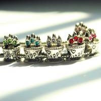 Wholesale Silver Pendant Beads Charms - High Quality 925 Silver Crystal Zircon Big Hole Loose Beads Pendant Charm Fit European Pandora Style Diy Bracelets & Bangles
