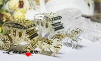 Wholesale Gold Candy Favor Box - Haimens Candy Box Court Carriage Wedding Favor Box For Wedding Party Decorations Hot Sale High Quality Gold White Silver