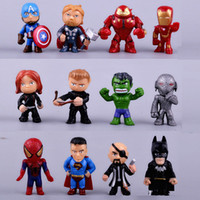 Wholesale Hulk 11 - 12pcs set new Avengers toys mini the Avengers Figures PVC model Hulk Thor action Toys Super hero toys gifts for boys