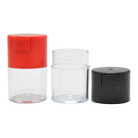 Wholesale glass food containers lids - 2 Sizes Vacuum Sealed Jar Vacuum Jars Lid Food Glass Grains Herb Spice Container Pill Box Storage Canister Kitchen Bottle Tank