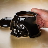 Wholesale White Porcelain Tea Cups - Star Wars Mug Canecas Darth Copos Vader Coffee Tea Giant Mugs Water Cups 3D Ceramic Coffee And Drink Cup With Removable Lid
