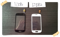 s7582 samsung al por mayor-Para Samsung GALAXY Trend Duos 2 S7582 S7580 Digitalizador de pantalla táctil; Envío gratis