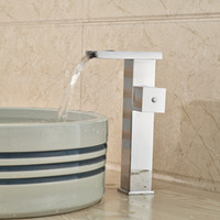 Wholesale Cheap Water Faucets - High Quality Cheap Bathroom Lavatory Basin Sink Faucet LED Color Changing with Hot Cold Water Polished