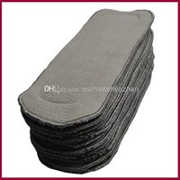 Wholesale Babyland Cotton Diaper Insert - Diaper inserts Babyland 5 layers bamboo charcoal inserts for baby diaper