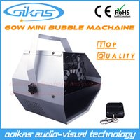 Wholesale Bubbles Show - Wholesale-60W Mini Bubble Machine Stage Effect Machine Remote control wedding show stage lighting equipment