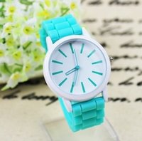 Wholesale Dress Free Shippng - 2016 Fashion Ladies Classic Geneva watches Silicone Jelly ladies girl fashion dress watches DHL free shippng