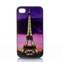 Wholesale Tower Mobile Cover - Wholesale Eiffel Tower Night Scene Design Hard Plastic Mobile Phone Case Cover For iPhone 4 4S 5 5S 5C 6 6plus