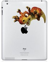 Wholesale Ice Age Pvc - Wholesale-Dinosaur Ice Age Colored Pattern PVC Decal Back Sticker for Ipad Good Quality