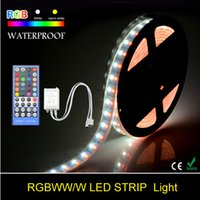 Impermeabile 5050 a doppia fila RGB Led Strip DC12V 5M 120 led / m Silicone flessibile a LED Light Tape + 40 Key IR Remote Controller
