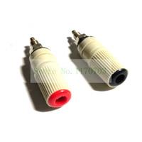 conector de prueba al por mayor-50 unids 30A M5 4mm Hembra Banana Jack Socket Test Encuadernación Post Soldadura Conector Enchufe
