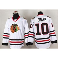 Wholesale Cool Hockey Jerseys - Blackhawks #10 Patrick Sharp White Hockey Jersey Superior Quality Training Uniform New Style Mens Athletic Apparel Cool Hockey Wear for Sale