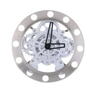 Wholesale Mechanical Wall Clock Gears - Mechanical Appearance Metal Quartz Clock Dynamic Hollow Wall Clock Fashion Gear ClockSpecial Creativity Gift for Friends Famliy