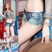 Wholesale Woman Whloesale Jeans - New Arrival 2015 Sexy Denim Women Shorts Low Waist Side Straps Women Girl Short Jeans Free Shipping Whloesale Price