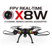 Original SYMA Syma X8W Camera Drone WiFi Video en tiempo real 2.4G 4ch 6 Eje Venture w / 2.0MP Gran Angular FPV Cámara RC Quadcopter RTF X8w Nuevo
