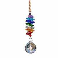 Wholesale Chakra Balls - 24cm Chandelier Crystals Ball Prism Pendant Rainbow Maker Chakra Cascade Suncatcher Home decoration