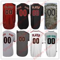 Wholesale Randy Custom - Custom Arizona On the Field Baseball Jerseys 44 Paul Goldschmidt 51 Randy Johnson 20 Luis Gonzalez 21 Greinke 22 Lamb Gray Black Red White