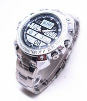 Wholesale Waterproof Wristwatch Hidden Cameras - H.264 1280*720 Steel Strap Wristwatch Spy Hidden Cam Motion Detection 8GB 16GB 32GB Camera Watch Waterproof Use as a Webcam