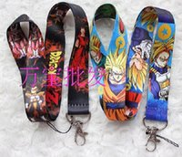 100pcs Dragon Ball Z Anime Lanyard Dragonball Chaveiro ID Badge Protector Chave Titular