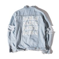 KANYE West Jacket Abum PABLO Giacca di jeans lavaggio Do Old Damaging Big Broken Men Baseball Giacche Top