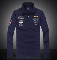 ffc08b4c08 2016 7 Modelos aeronautica militare camisa masculina polo mens Polo de manga  larga de las marcas Air Force one tiburón polo sólido
