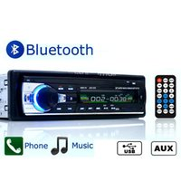 Wholesale Usb Radio Transmitter Car - JSD520 12V Car Stereo FM Radio MP3 Audio Player Bluetooth vehicle USB SD MMC Port Car Electronics In-Dash 1 DIN