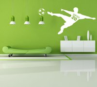 Wholesale Boys Name Wall Decals - Vinyl Soccer Wall Decal With Personalized Name and Number for Boys Room Decor