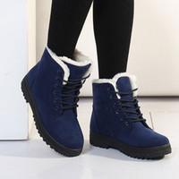 Wholesale Best Work Heels - best feminine women boots new arrival women winter warm snow boots fashion platform shoes women ankle boots big size EUR 34 - 44